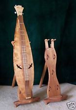 Handcrafted Mountain Dulcimer Stand matching the pattern on the Dulcimer. What a clever idea.