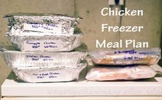 Chicken Freezer Meal Plan  - 9 Freezer meals using only chicken to maximize your savings on grocery store sales