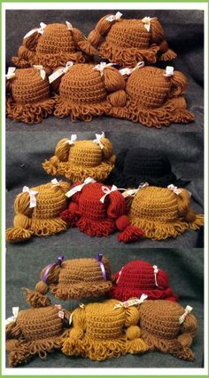 All Sizes of Cabbage Patch Hat pattern #cabbagepatchpattern