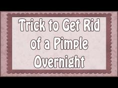 How to Get Rid of a Pimple. Even when you do your best to avoid acne, sometimes you still end up with pimples. Fortunately, there are lots of ways to get rid of a pimple. Overnight Acne Remedies, Pimples Overnight, Body Treatments, Acne Treatment, Home Remedies Beauty, Natural Remedies, Belly Fat Drinks, Tea Tree Oil For Acne, Types Of Acne