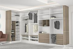 organized closets - great use of two color with texture