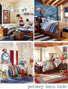 Boys bedroom / Pottery barn kids
