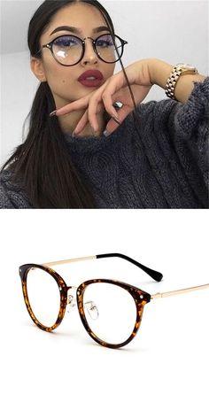 ee14e95ecc Retro round glasses women transparent clear lens glasses female 2018 vintage  optical blue light rivet speactacles