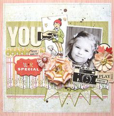 {You Are Special} *Pencil Lines* Heritage Scrapbook Pages, Something To Remember, You Are Special, Baby Scrapbook, Card Making Inspiration, Page Layout, Scrapbooking Layouts, My Girl, Cardmaking