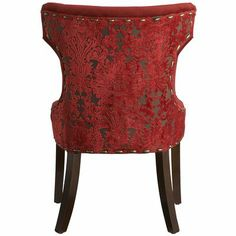 Hourglass Dining Chair - Red Damask $169.98