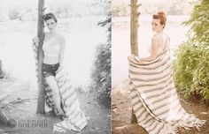 katherine henry boudoir: outdoor shoot near water with a cozy blanket