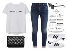Sin título #13287 by vany-alvarado on Polyvore featuring polyvore fashion style MANGO adidas Originals Chanel Boohoo MICHAEL Michael Kors Yves Saint Laurent clothing