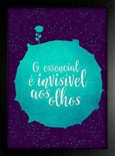 Poster Pequeno Príncipe - O Essencial é invisível aos olhos - loja online