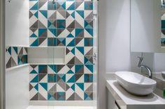 Framed Mirrors, Decoration, Sink, Bathtub, Bathroom, Home Decor, Blue Gray Bathrooms, White Bathroom, Colorful Rugs