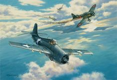 Grumman F4F Wildcat vs. Val ~ Aichi D3A ~ Number 7, The Hard Way, Roy Grinnell ~ BFD