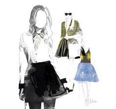 Fashion Illustrations by Leia Ka, via Behance