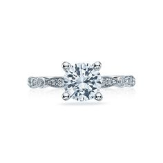 Grab Tacori 472 RD 6.5 Crescent Engagement Ring; combines the bands i love with a solitaire round diamond
