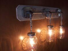 industrial Mason jar vanity light (ebay)