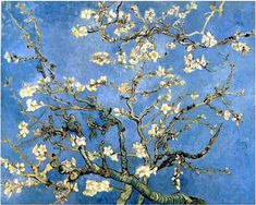 Branches with Almond Blossom - Vincent van Gogh hand-painted oil painting reproduction,flowering trees painting,sitting room large wall art Van Gogh Pinturas, Vincent Van Gogh, Van Gogh Museum, Flores Van Gogh, Ara Bleu, Van Gogh Flowers, Van Gogh Arte, Van Gogh Almond Blossom, Pencil Art