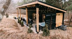 Vacation Rentals, Homes, Experiences & Places - Airbnb - The Lily Pad – Hocking Hills- Shipping Container – Tiny houses for Rent in Logan, Ohio, United States Container Home Designs, Building A Container Home, Container House Plans, Cargo Container, Container Houses, Container Store, Ohio, Shipping Container Cabin, Shipping Containers