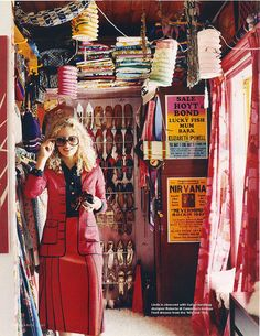big red closet