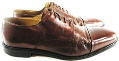 Johnston Murphy Men Captoe Oxford Shoes Size 13 M Brown Style 5911056.  SSS 1 #JohnstonMurphy #OxfordsCaptoe
