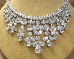 98.60ct Diamond Drop Platinum Necklace