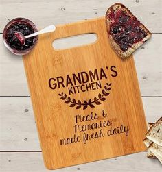 Grandma's Kitchen Cutting Board - Personalized Christmas Gift for Grandma - Gifts and Costume Ideas for 2020 , Christmas Celebration Christmas Gifts For Grandma, Birthday Gifts For Grandma, Funny Christmas Gifts, Best Birthday Gifts, Grandma Gifts, 31 Birthday, Christmas Cover, Personalized Mother's Day Gifts, Personalized Pillows