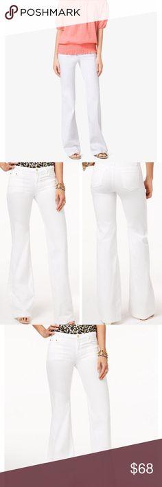 Michael Kors • White bootcut denim jeans Michael Kors Italy white bootcut straight leg jeans. Size 6. Tag says Style KRL214T. Michael Kors Jeans Boot Cut