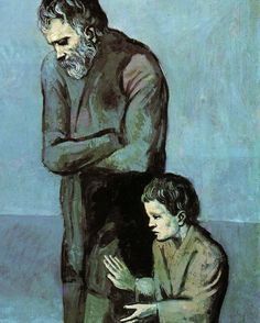 Pablo Picasso, The Tragedy (detail), 1903
