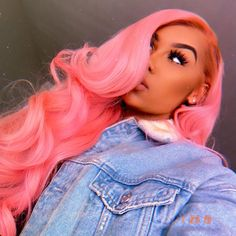 Women Pink Wigs Lace Front Hair Icy Pink Hair Brown To Pink Ombre Short Hair Pink Wig With Roots – cressral Black Girl Pink Hair, Beige Hair Color, Gray Color, Twisted Hair, Hair Laid, Baddie Hairstyles, Lace Hair, Silky Hair, Soft Hair