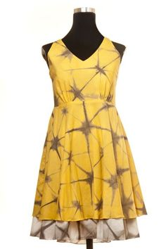 Marigold Pomegranate reversible dress with adjustable straps #Holi #Yellow