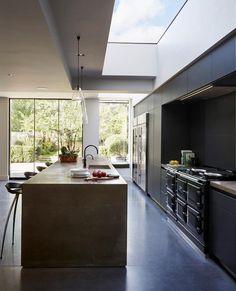 Kitchen Architecture - Home - Bespoke bulthaup living Aga cooker Home Decor Kitchen, House Design, House, Modern House, Luxury Kitchens, Aga Kitchen, Kitchen Room Design, Modern Kitchen Design, Luxury Kitchen Design