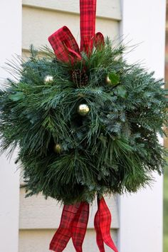 Learn how to make this classic holiday decoration with evergreens from your yard.