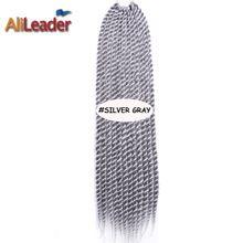 Natuurlijke havana mambo twist bounce hair extension 22 inch haak faux locs 85g/pack jumbo twist gehaakte grijs haar vlechten vlechten(China (Mainland))