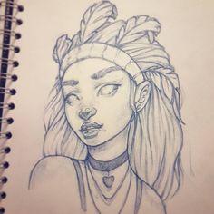 New sketchbook drawing #drawing #instaart #artofinstagram #sketchbook #photoshop #painting #pencildrawing
