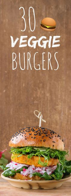 With coral lentils, quinoa, red beans: 30 recipes of burgers ve . Burger Recipes, Veggie Recipes, Vegetarian Recipes, Cooking Recipes, Healthy Recipes, Hamburger Vegetarien, Vegetarian Steak, Lentils And Quinoa, Delicious Burgers