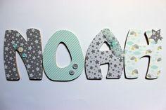 Chambre de b b on pinterest baby rooms elephant - Lettre decorative pour chambre bebe ...