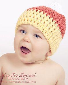 Ravelry: Candy Corn Baby Hat Crochet Pattern PDF 169 pattern by Posh Patterns