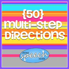 50 Multi-Step Directions for Home Speech Therapy Practice