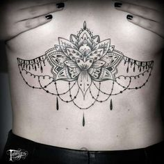 Lotus Chandelier Tattoo