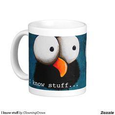 I know stuff classic white coffee mug