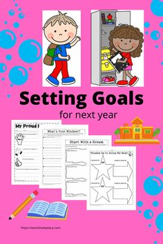 It is not too soon for students to be thinking about setting goals for next year. Start with a dream. What is their mindset? What are they most proud of? What did they do well this year but want to improve on for next year. These are great activities to wind down those last few days of school. They are all free for teachers, homeschoolers and even parents. Goals Worksheet, Goal Setting Worksheet, Free Worksheets, Setting Goals, Lesson Plans, Mindset, Homeschool, Parents, Students