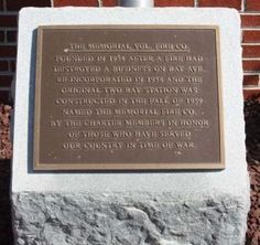 The Memorial Vol. Fire Co. Marker. Click for full size.