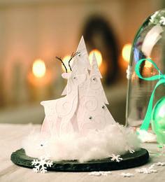 Снежный шар в форме колпака своими руками