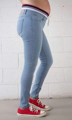 Maternity Super Stretch Underbelly Skinny Leg Denim Jean Ethical Clothing, Maternity Jeans, Spanx, Wardrobe Staples, Shapewear, Skinny Legs, Jeggings, Denim Jeans, Cotton