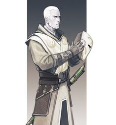 Arkanian Offshoot Jedi Temple Guard - character design for a Star Wars: Force and Destiny game @fantasyflightgames