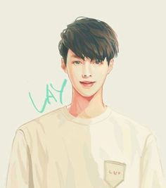 Lay EXO fanart for Stardium Yixing Exo, Chanyeol Baekhyun, Kpop Exo, K Pop, Steven Universe, Let You Go, Exo Music, Exo Songs, Exo Anime