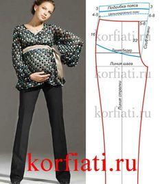 Pantalones de patrón para las mujeres embarazadas