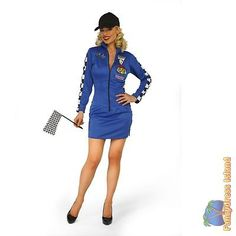 Blue f1 #racer girl #formula one size 12-14 ladies womens fancy dress #costume, View more on the LINK: http://www.zeppy.io/product/gb/2/252049704527/
