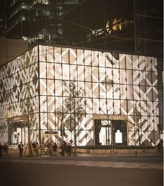 Burberry store in Shanghai - love the signature plaid on the building!