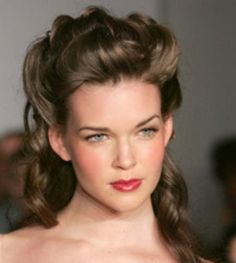 Southern Belle hairstyle.  She's gorgeous and has beautiful hair!