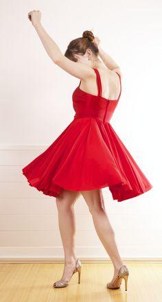 Red ZAC POSEN DRESS: SALE