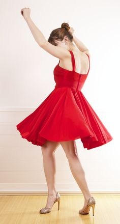 Red Twirling Dress.