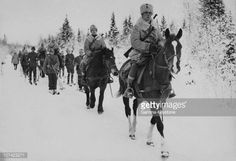 News Photo : Swedish Infantry And Cavalry Marching In The Snow...